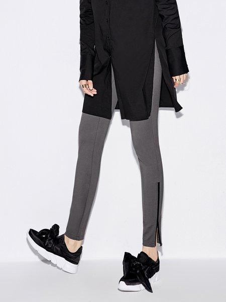 Zipper Casual Legging