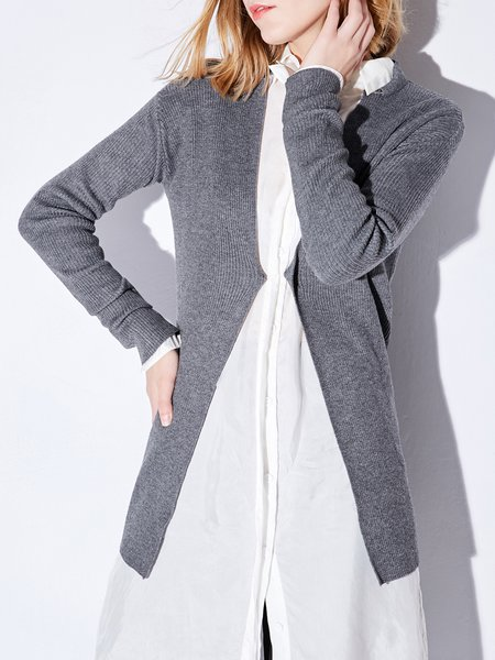 Polyester Long Sleeve Cardigan