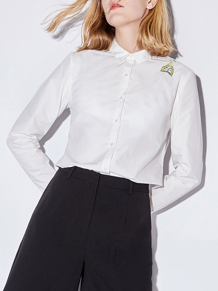 Long Sleeve Cotton Work Blouses & Shirt