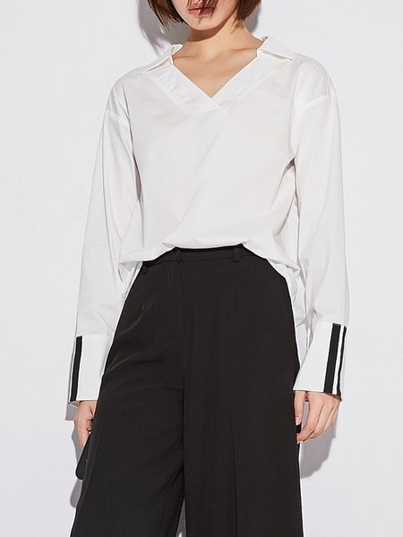 Cotton Bell Sleeve Work Blouse