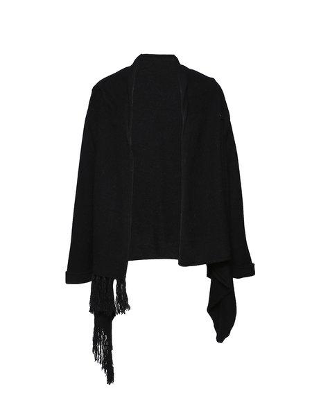 Long Sleeve Solid Elegant Angora-blend Coat