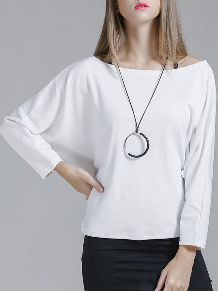 Knitted Long Sleeve Casual Top