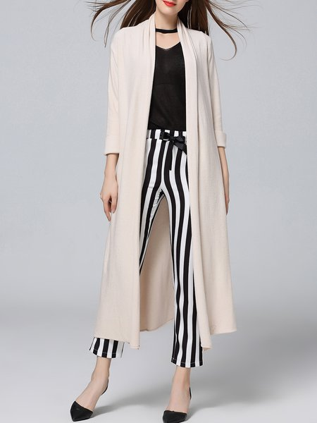 Jersey Rayon Casual Long Sleeve Cardigan