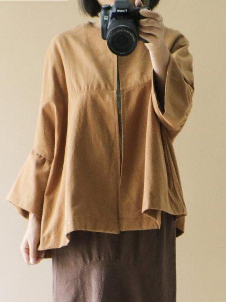 Bell Sleeve H-line Linen Outerwear