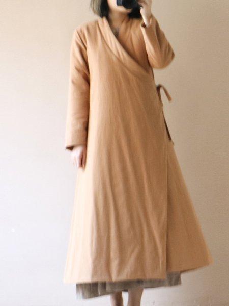 Solid Asymmetric Long Sleeve Casual Linen Outerwear