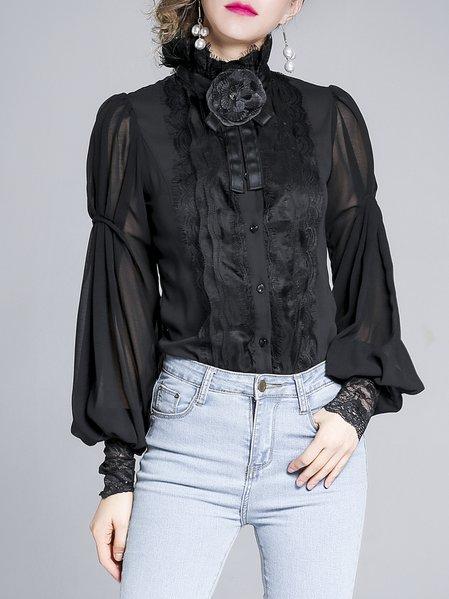 Turtleneck Elegant Long Sleeve Paneled Bodysuit