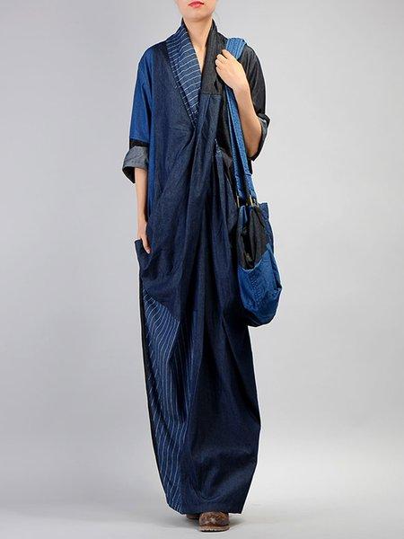 Long Sleeve Casual Denim Dress