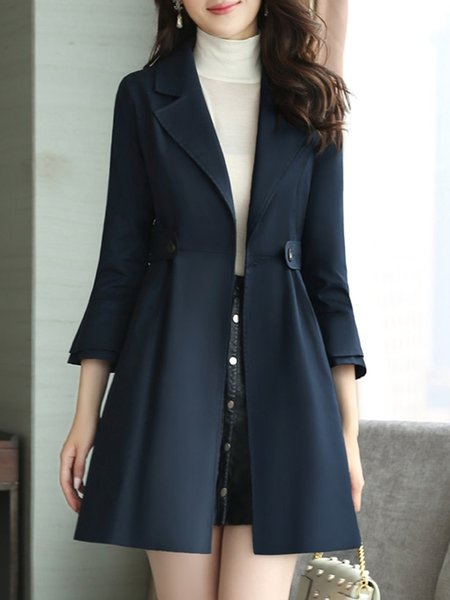 Folds Casual Bell Sleeve A-line Coat