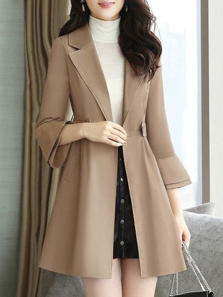 Shawl Collar Casual Coat