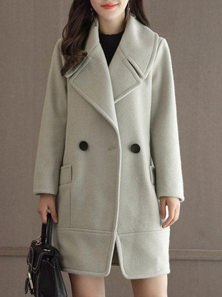 Casual Long Sleeve H-line Coat