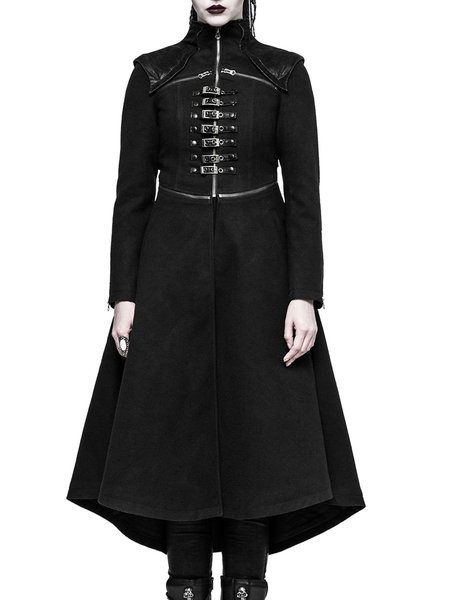 Statement Long Sleeve Solid Coat