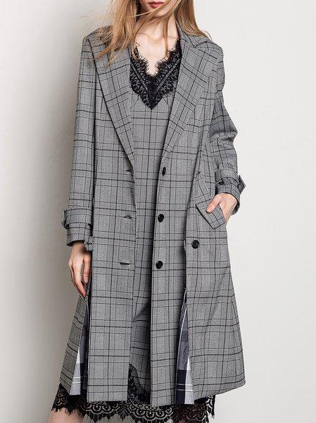 Shawl Collar Casual H-line Pea Coat
