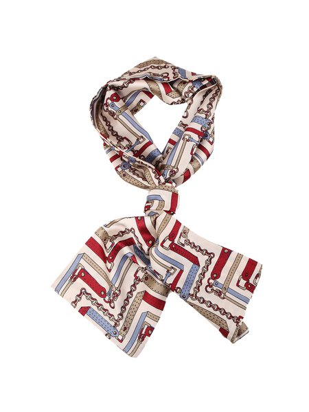 Multicolor Abstract Printed Casual Scarf