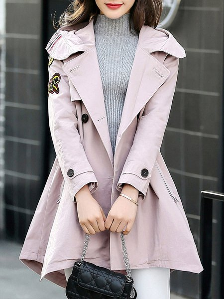 Pockets Long Sleeve Trench Coat