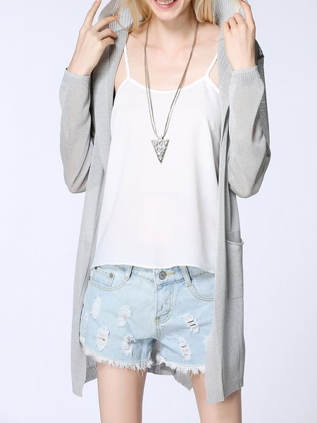 Long Sleeve Knitted Shift Casual Cardigan