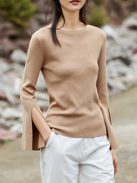Long Sleeve Simple Sweater