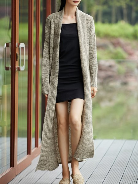 Casual Shawl Collar Sweater
