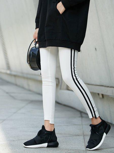 Casual Paneled Skinny Leg Pants