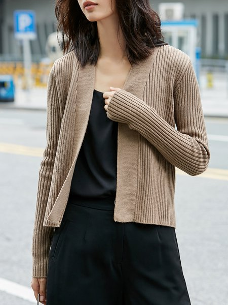 Knitted Simple Cardigan