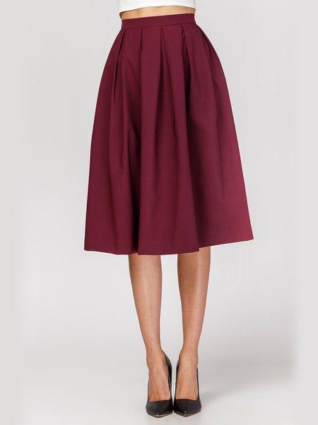 Gathered Casual Midi Skirt