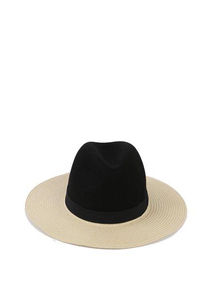 Black Wool Plain Hat