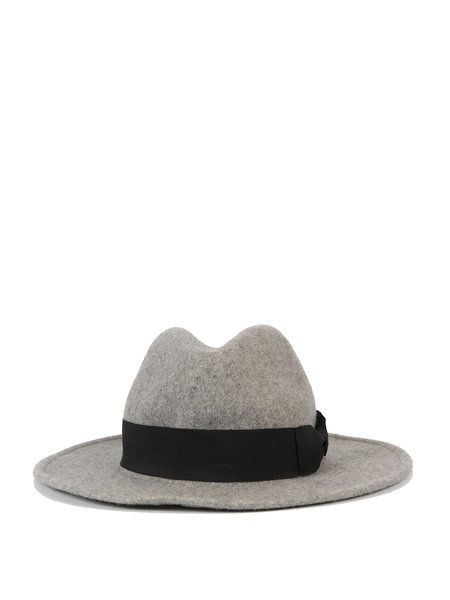 Gray Casual Wool Plain Hat
