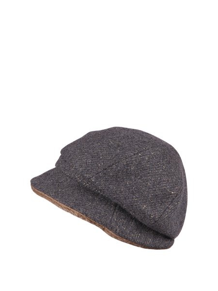 Light Gray Casual Wool Blend Hat
