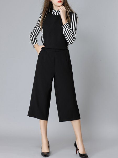 https://www.stylewe.com/product/black-two-piece-long-sleeve-stripes-blouse-plain-wide-leg-overall-75941.html