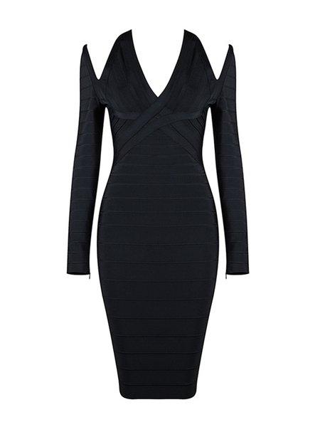 Black Sexy Cutout Bodycon Bandage Dress