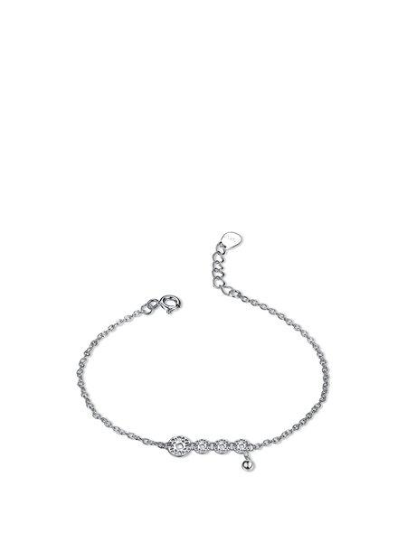 Silver Round 925 Sterling Silver Bracelet