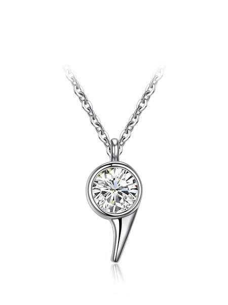 Silver Cubic Zirconia 925 Sterling Silver Necklace