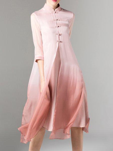 Gradient Vintage Acrylic A-line Midi Dress