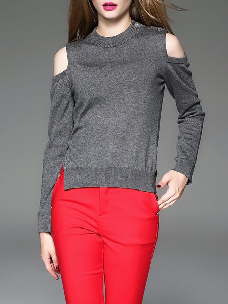 Long Sleeve H-line Casual Sweater