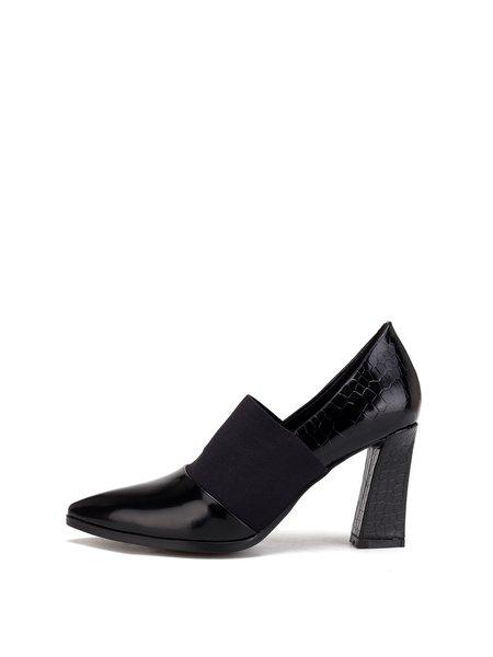 Color-block Leather High Heel Dress Heels