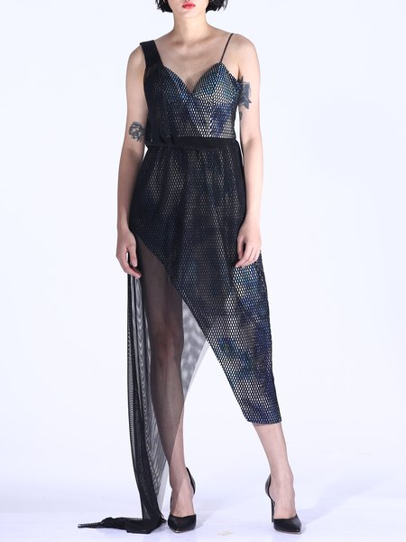 Black Asymmetrical Sexy Party Dress