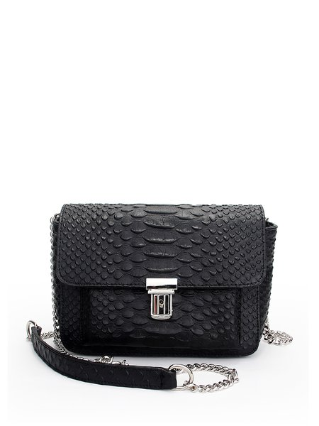 Mini Snap Cowhide Leather Crossbody