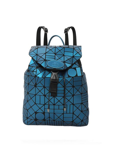 Blue Statement Drawstring Backpack