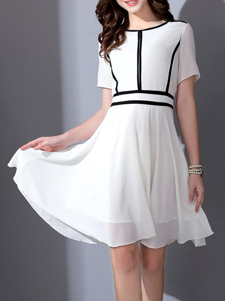 Polyester Elegant A-line Midi Dress