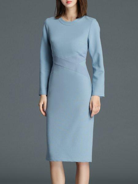 Long Sleeve Sheath Elegant Work Dress