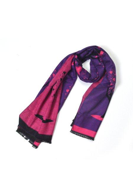 Purple Casual Scarf