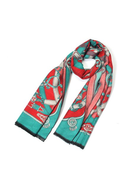 Red Casual Scarf
