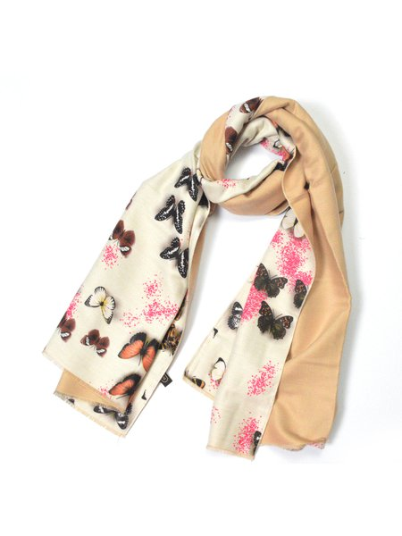 Multicolor Casual Animal Scarf