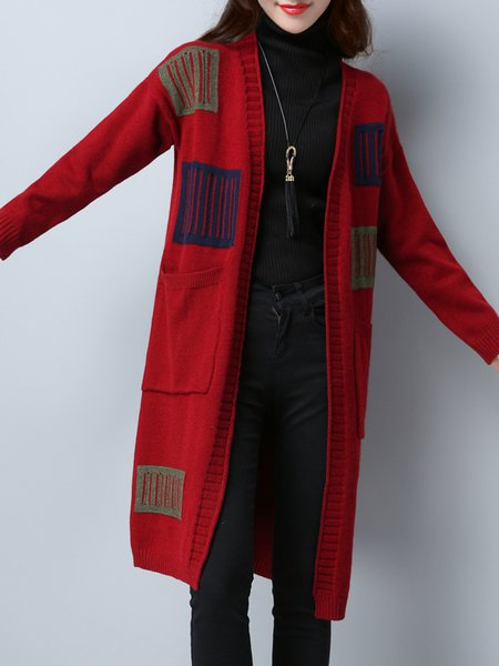 Long Sleeve Casual Patch Cardigan