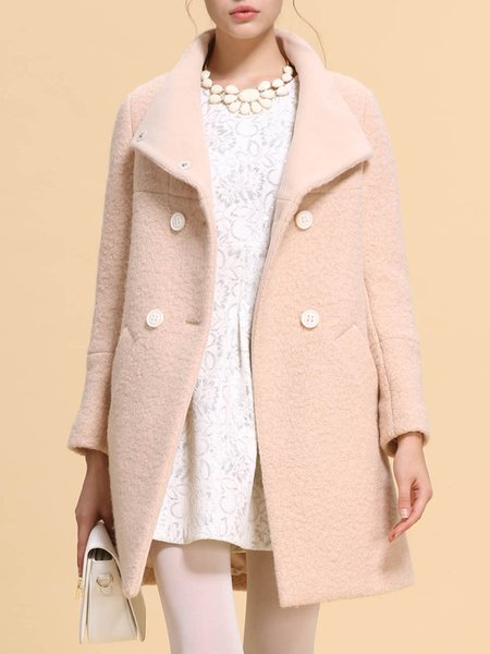 Camel Casual Wool H-line Coat