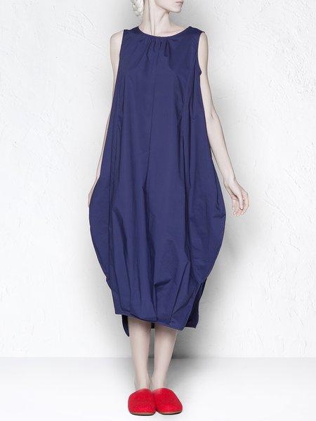 Royal Blue Slit Sleeveless Asymmetrical Midi Dress