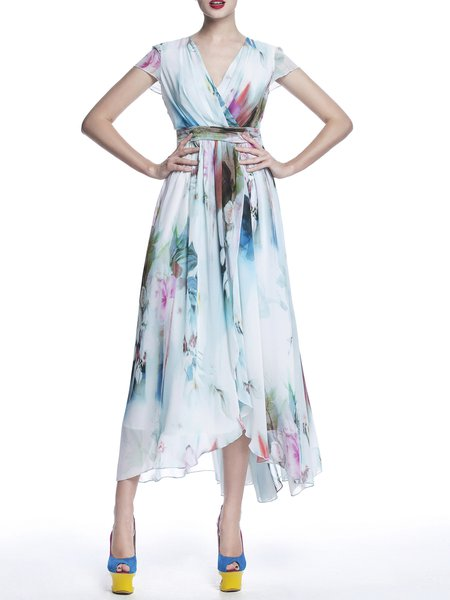 Floral-print Boho Sleeveless Maxi Dress