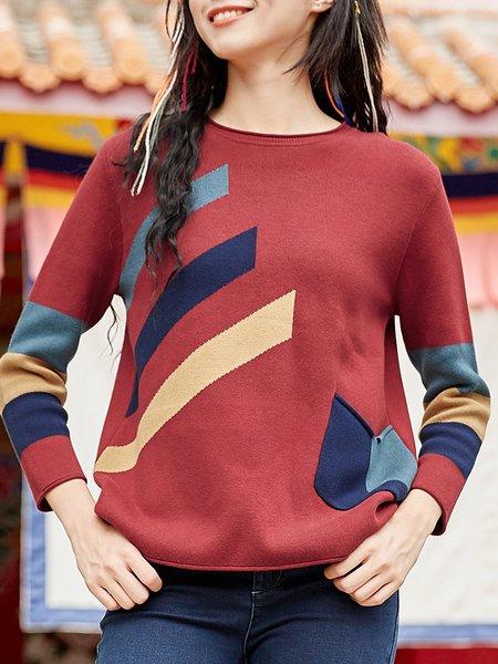 Long Sleeve Cotton Sweater