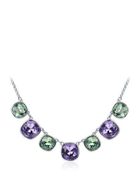 Purple Alloy Necklace