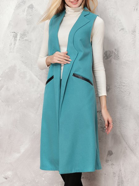 Elegant Sleeveless Color-block Vests And Gilet
