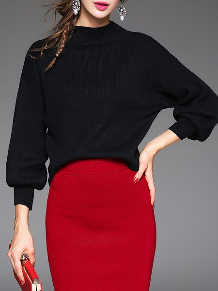 Turtleneck Knitted Long Sleeve Casual Sweater